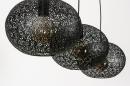 Hanglamp 73948: modern, eigentijds klassiek, metaal, zwart #9