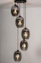 Hanglamp 73955: modern, retro, eigentijds klassiek, glas #1