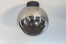 Plafondlamp 73956: modern, retro, eigentijds klassiek, glas #1
