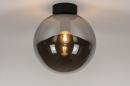 Plafondlamp 73956: modern, retro, eigentijds klassiek, glas #2