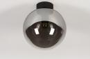 Plafondlamp 73956: modern, retro, eigentijds klassiek, glas #3