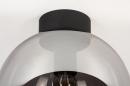 Plafondlamp 73956: modern, retro, eigentijds klassiek, glas #6