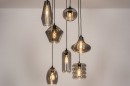 Hanglamp 73958: modern, eigentijds klassiek, glas, metaal #1