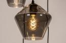 Hanglamp 73958: modern, eigentijds klassiek, glas, metaal #13