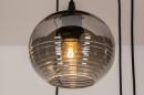 Hanglamp 73958: modern, eigentijds klassiek, glas, metaal #14