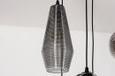 Hanglamp 73958: modern, eigentijds klassiek, glas, metaal #15