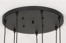Hanglamp 73958: modern, eigentijds klassiek, glas, metaal #17