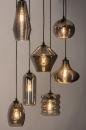 Hanglamp 73958: modern, eigentijds klassiek, glas, metaal #3