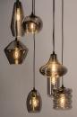 Hanglamp 73958: modern, eigentijds klassiek, glas, metaal #4