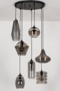 Hanglamp 73958: modern, eigentijds klassiek, glas, metaal #5