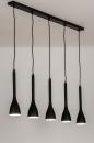 Hanglamp 73961: modern, retro, metaal, zwart #1