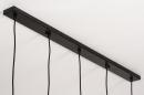 Hanglamp 73961: modern, retro, metaal, zwart #13