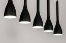 Hanglamp 73961: modern, retro, metaal, zwart #2