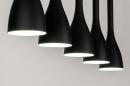 Hanglamp 73961: modern, retro, metaal, zwart #3