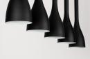 Hanglamp 73961: modern, retro, metaal, zwart #8