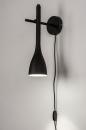 Wandlamp 73962: modern, retro, metaal, zwart #2