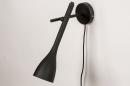 Wandlamp 73962: modern, retro, metaal, zwart #3