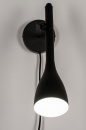 Wandlamp 73962: modern, retro, metaal, zwart #4