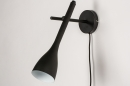 Wandlamp 73962: modern, retro, metaal, zwart #5