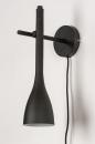 Wandlamp 73962: modern, retro, metaal, zwart #6