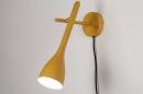 Wandlamp 73963: modern, retro, metaal, geel #1
