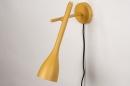 Wandlamp 73963: modern, retro, metaal, geel #3