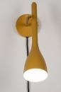 Wandlamp 73963: modern, retro, metaal, geel #4