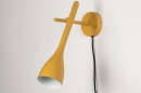Wandlamp 73963: modern, retro, metaal, geel #5