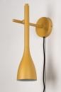 Wandlamp 73963: modern, retro, metaal, geel #6