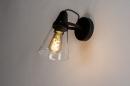 Wandlamp 73974: modern, glas, helder glas, metaal #1