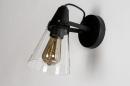 Wandlamp 73974: modern, glas, helder glas, metaal #5
