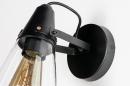 Wandlamp 73974: modern, glas, helder glas, metaal #8