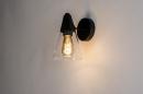 Wandlamp 73976: modern, glas, helder glas, metaal #1