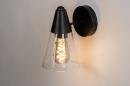 Wandlamp 73976: modern, glas, helder glas, metaal #2