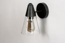 Wandlamp 73976: modern, glas, helder glas, metaal #5