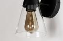 Wandlamp 73976: modern, glas, helder glas, metaal #7