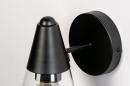 Wandlamp 73976: modern, glas, helder glas, metaal #9