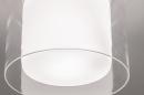 Plafondlamp 73987: modern, retro, glas, wit opaalglas #3