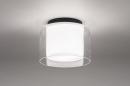 Plafondlamp 73988: modern, retro, glas, wit opaalglas #1