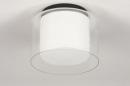 Plafondlamp 73988: modern, retro, glas, wit opaalglas #2