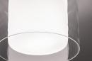 Plafondlamp 73988: modern, retro, glas, wit opaalglas #3