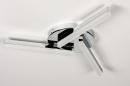 Plafondlamp 73991: modern, kunststof, acrylaat kunststofglas, metaal #4