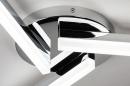 Deckenleuchte 73991: modern, Kunststoff, Kunststoffglas, Metall #6