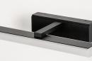 Wandlamp 73993: modern, kunststof, acrylaat kunststofglas, zwart #8