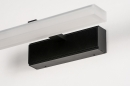 Wandlamp 73993: modern, kunststof, acrylaat kunststofglas, zwart #9
