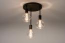 Plafondlamp 74009: industrie, look, modern, metaal #2