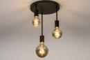 Plafondlamp 74009: industrie, look, modern, metaal #4