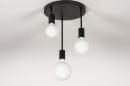 Plafondlamp 74009: industrie, look, modern, metaal #8