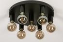 Plafondlamp 74010: industrie, look, modern, metaal #4