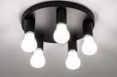 Plafondlamp 74011: industrie, look, modern, metaal #3